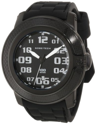 Glam Rock Men's GR33004 SoBe Black Dial Black Silicon Watch