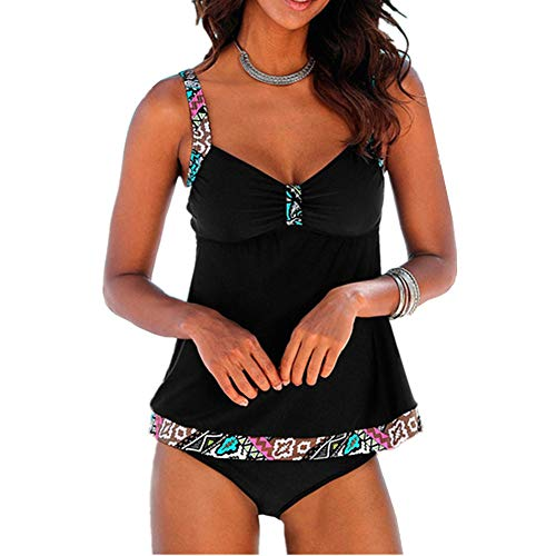 Chickwin Costume da Bagno, Donna Sexy Vita Alta Balze Capestro Bikini Set Due pezzi Costumi Fasciatura da Bagno Swim Beach Wear Stampa
