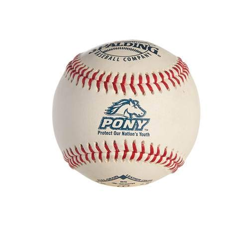 Silver Pony-shirt (Spalding WC41128PB Pony League Baseball RS Stempel)