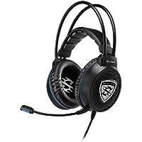 Sharkoon Skiller SGH1 Binaurale Diadema Negro auricular con micrófono - Auriculares con micrófono (PC/Juegos, 2.0 canales, Binaurale, Diadema, Negro, Control en línea)