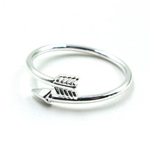 Sannysis® Anillo de dedo de la aleación Doble Flecha Atractivo Plata
