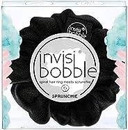 invisibobble SPRUNCHIE, True Black - Spiralhaarring trifft auf Haargummi, kein Knicken, starker Halt, stylisch