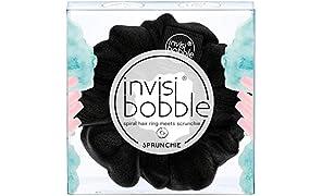invisibobble SPRUNCHIE, True Black - Spiralhaarring trifft auf Haargummi, kein Knicken, starker Halt, stylisches Armband, 90er Jahre Trend - geeignet für alle Haartypen
