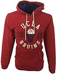 UCLA - Sweat-shirt à capuche - Manches Longues - Homme Rouge Rouge Medium