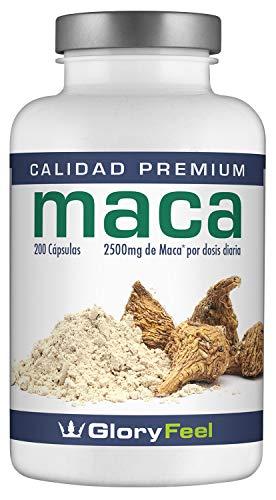 Maca Andina - 200 Capsulas de Maca (Más de 6 Meses de Suministro) - Maca Capsulas Raíz Original de Maca con Vitamina B12 - Made in Germany de GloryFeel