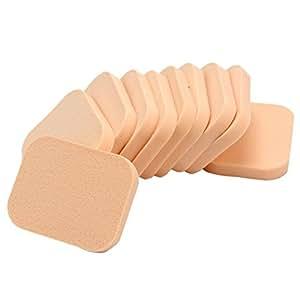 10 Pcs Eponge Houppette Souple pour Poudre Fond de Teint Maquillage Demaquillage