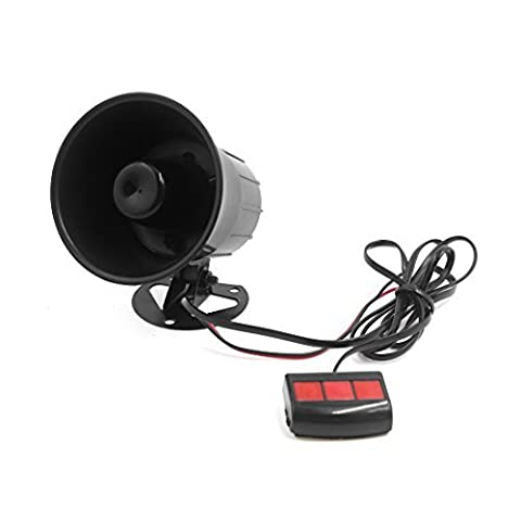 DealMux 12V 15W Car 3 Tone Air Horn Loudspeaker Annunciator W Remote Control Unit