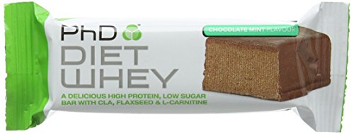 PhD Nutrition Diet Whey Bar, 50 g – Chocolate Mint, Pack of 12