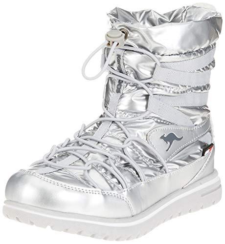 KangaROOS Damen K-Wowi Jog RTX Schlupfstiefel, Mehrfarbig (Silver), 39 EU -