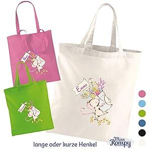 MissRompy Stoffbeutel Maus (798) Einkaufstasche Jutebeutel Wechselkleidung