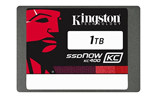 "Kingston KC400 SSDNow da 1 TB, SATA III, 2.5"", 7 mm di Spessore, Argento"