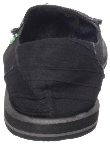 Sanuk Women's Shuffle Slip-On,Black,10 M US Black