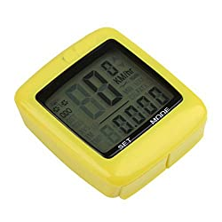 Sunding SD 201-C 25 Function Wireless Bicycle Meter Odometer Waterproof, White BackLight, Temperature, Calorie, FAT, Time , Auto Maintenance by RSI