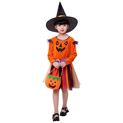 ZXYSHOP Damen Niedlichen Kleinkind Kinder Baby Mädchen Halloween Kleidung Kostüm Kleid Party Kleider + Hut Outfit Cosplay Tanz Rave Für - Niedlichen Kleinkind Mädchen Kostüm