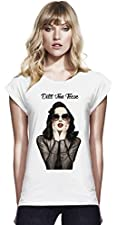 Dita Von Teese Womens Continental Rolled Sleeve T-Shirt
