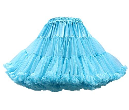 Honeystore Damen Mädchen Kinder Tanzen Ballett Tutu Rock Ballett Pettiskirt Prinzessin Tanz Röckchen Tutu Kostüme Blau One (Kostüme Julia Adult)