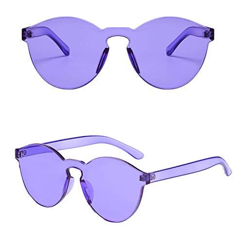 MMCP Rahmenlose Sonnenbrillen, Sonnenbrillen Brillen Bonbonfarben Transparent Einteilige Brille für Shopping Golf Fahren Reisen Unisex Polarized Sonnenbrillen,4