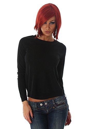 Jela London - Pull - Pull - Uni - Manches Longues - Femme Taille unique Noir