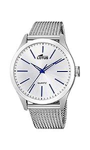 Lotus Watches Reloj Análogo clásico para Hombre de Cuarzo con Correa en Acero Inoxidable 18570/1