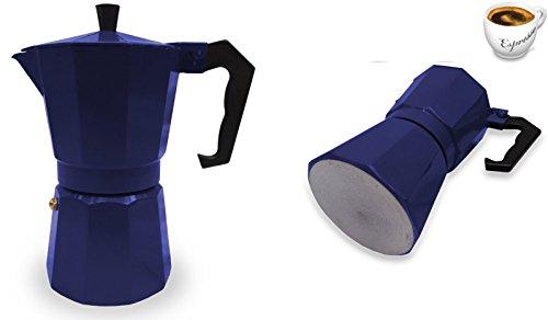 Italian Espresso Stove Top Coffee Maker Pot 1 Cup blue 41yMyGDZIhL