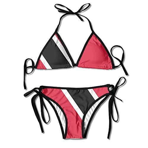 Trinidad and Tobago Women's Tie Side Bottom Bikini Suits Two Pieces Swimwear