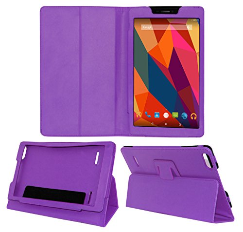 Acm Executive Leather Flip Case Micromax Canvas Tab P680 Tablet Front & Back Flap Cover Holder Purple  available at amazon for Rs.219
