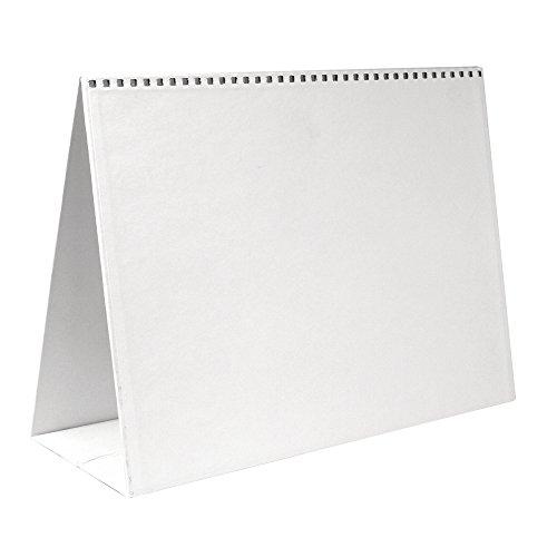 Rayher 7128002 Papp-Aufstellkalender , 30,5x22 cm, 1 Stück im Beutel, weiß