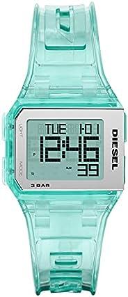 ساعة تشوبد الرقمية بمينا اسود وسوار من جلد البولي يوريثين للرجال من ديزل - DZ1921