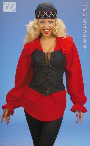 Widmann 3041B, Corset - Korsage in braun Größe XL = 46/48 (Kostüm Cowboy Lady)