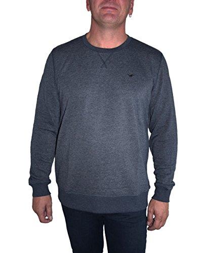 Preisvergleich Produktbild Mustang Herren Sweatshirt Sweat Shirt 6190.1636 blau oder anthrazit, Farbe:Anthrazit, Größe:L