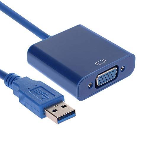 YouN USB 3.0 to VGA 1080P Adapter Converter External Video Graphic Card with CD - Agp Vga Video Card