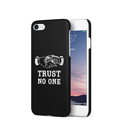 GRL Power Tumblr Black Apple iPhone 7 / iPhone 8 SnapOn Hard Plastic Phone Protective Custodia Case Cover Trust No One