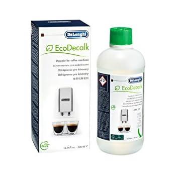 De'Longhi EcoDecalk SER3018 Entkalker | Universal Kalklöser für 4 Entkalkungsvorgänge | Für Kaffeemaschinen & Kaffeevollautomaten | Enthält nur natürliche Rohstoffe pflanzlichen Ursprungs | 500 ml