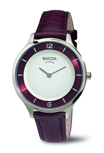 Boccia Damen-Armbanduhr Analog Quarz Leder 3249-02