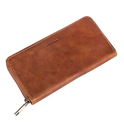 6cfe0e45b9ae1 STILORD  Emma  Leder Portemonnaie Damen RFID Schutz Geldbörse Damen RFID  Blocker Querformat Brieftasche für