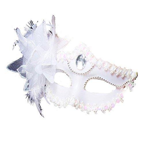 Maskerade,Halloween Maske Prinzessin Party Requisiten sexy Maske Make-up Tanz Maske halb Gesicht weiß Masquerade