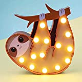 Fizz Creations Sloth Marquee Light, Brown