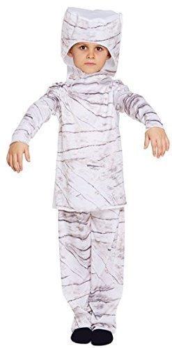 oween-Mumie ägyptisch Historisch Büchertag Kostüm Kleid Outfit 4-12 Jahre - Weiß, One Size (Junge Mumie Kostüme)