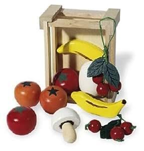 Pinolino - 221403 - Cagette avec des fruits et legumes en bois