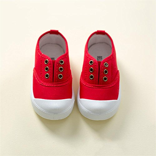 ALUK- Canvas Kinderschuhe Kleine weiße Schuhe Baby Schuhe Studenten Schuhe ( farbe : Rot , größe : 23 ) Rot
