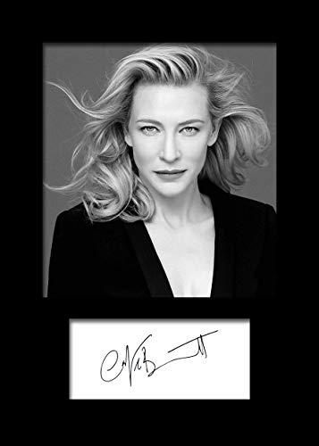 CATE Blanchett #1 | Signierter Fotodruck | A5 Größe passend für 6x8 Zoll Rahmen | Maschinenschnitt | Fotoanzeige | Geschenk Sammlerstück