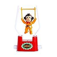 dontdo Child Toy Wind Up Clockwork Gymnastics Cartoon Monkey Swing Flip Gift