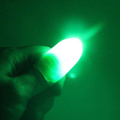 inger Lichter für Dance Party Requisiten–Blau/Grün/Rot Licht 1Paar Creative Magic Daumen Spitze LED-Licht, grün (Halloween Neuheit Spielzeug Bulk)