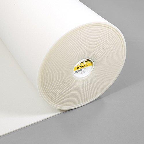 Fabulous Fabrics Style Vil Weiss | Vlieseline - Meterware ab 0,5m - zum Nähen von Taschen, Stühle und Accessoires