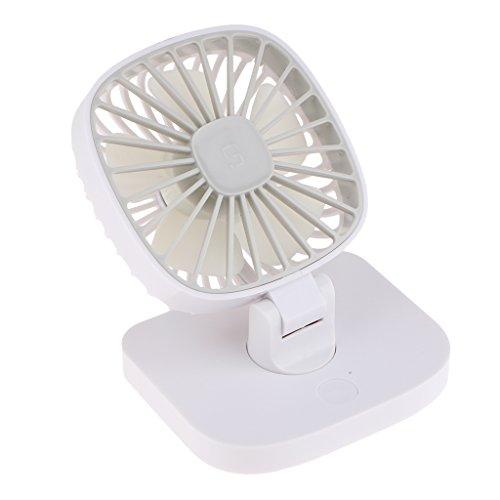 Preisvergleich Produktbild D DOLITY Persönlicher USB Ventilator für Schreibtisch Büro Auto Fahrzeug in Freien und Reisen usw. - Weiß