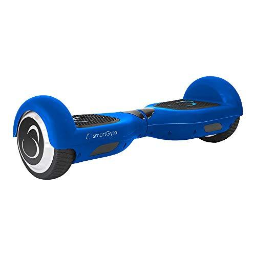 SmartGyro X2 Blue Patinete Eléctrico con Certificado UL2272, Ruedas Run-Flat Talla 6.5', Color Azul