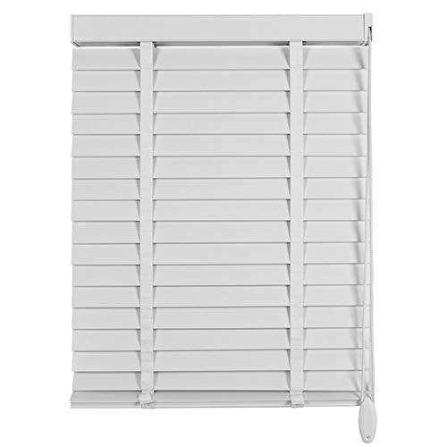 Jalousien Holz Innenbeschlag Mini Venetian Shade White, Sichtschutzlamellen Easy Fit Für Home Office Fenster, 60cm / 80cm / 100cm / 120cm Breite (Size : 120x200cm) (Holz-mini-jalousien)