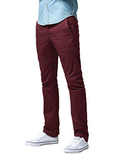 Match Herren Slim Straight Casual Hose #8036 8036 Burgund