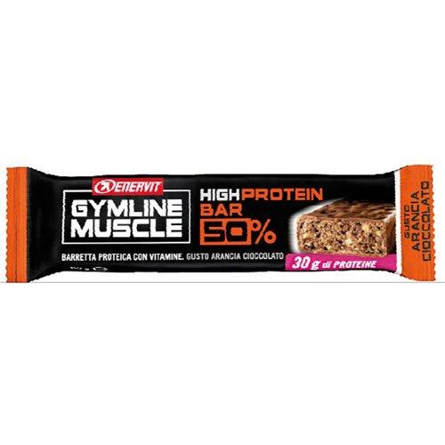 Enervit Gymline Muscle High Protein Bar 50% Gusto Arancia-Cioccolato 1 Pezzo - 41yN4F8uIfL