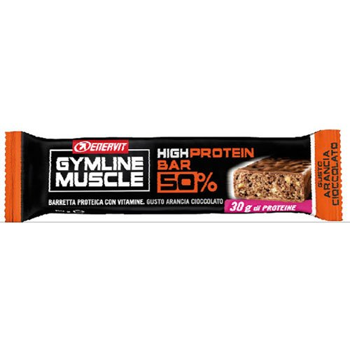 Enervit Gymline Muscle High Protein Bar 50% Gusto Arancia-Cioccolato 1 Pezzo